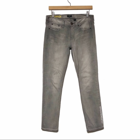 J Crew Gray Ankle Toothpick Jeans